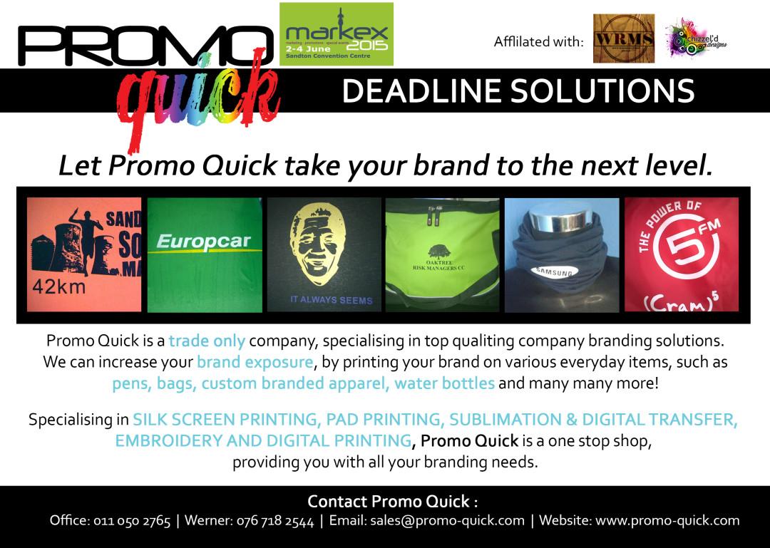 promo quick markex flyer chizzel d designs