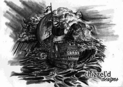 Pirate Skull Ship